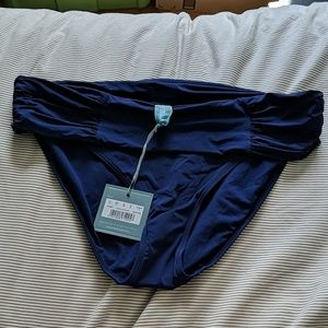 NWT Panache Navy fold over bikini bottoms